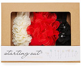Starting Out Baby Girls Big Bows 3-Pack Chiffon Lace Headband Set