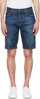 Dolce & Gabbana Blue Denim Music Patch Shorts
