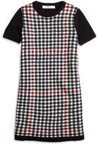 Brooks Brothers Short-Sleeve Windowpane Sweater Dress