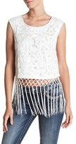 Miss Me Fringe Trim Tank Top