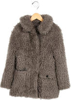 Little Marc Jacobs Girls' Faux Fur Jacket
