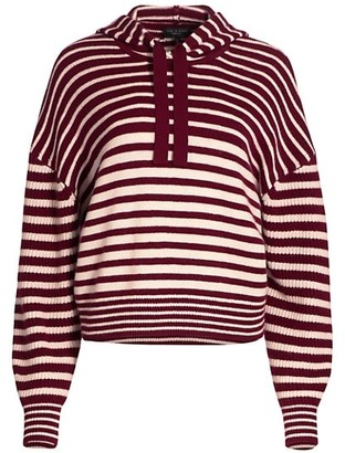 Rag & Bone Pierce Striped Cashmere Hooded Sweater