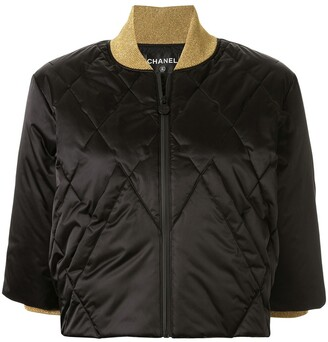Chanel Pre Owned Cropped Padded Jacket
