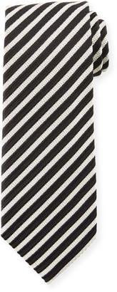 Tom Ford Striped Silk 8cm Tie, Black