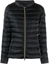 Herno quilted sateen funnel-neck jacket