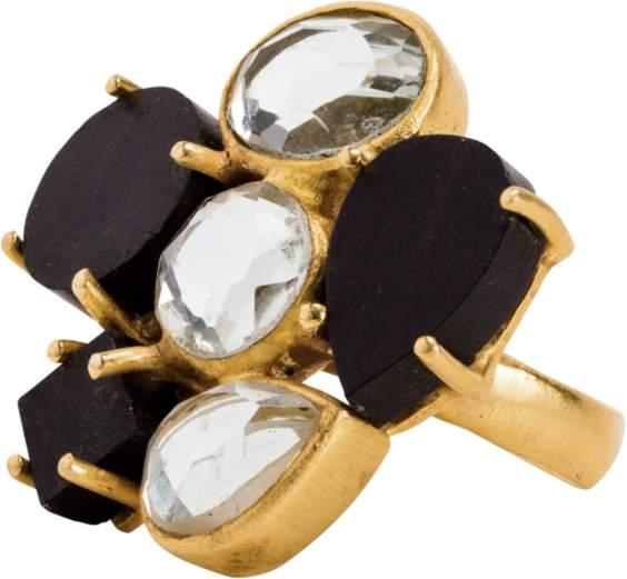 Mela Artisans Wood & Crystal Serendipity Ring