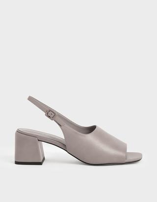 Charles & Keith Slingback Block heels