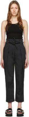3.1 Phillip Lim Black Origami Pleated Trousers