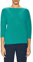 Lafayette 148 New York Rib Layered Asymmetrical Sweater