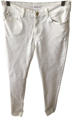MANGO White Cotton - elasthane Jeans for Women