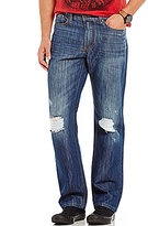 Flag and Anthem Flag & Anthem Smithsburg Straight-Leg Distressed Stretch Denim Jeans