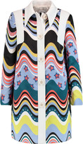 M Missoni Printed satin and crepe coat
