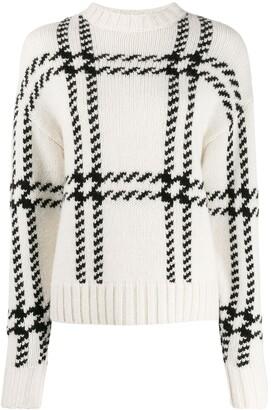 Ami Paris Oversize Check Crewneck Sweater
