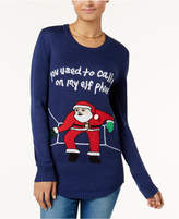 Planet Gold Juniors' Embellished Holiday Sweater