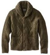 L.L. Bean Signature Mapleton Wool Sweater, Shawl Collar Cardigan