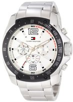 Tommy Hilfiger Men's 1790872 Sport Stainless Steel Bracelet Black Bezel Watch