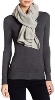 Portolano Light Grey Cashmere Knit Wrap Scarf