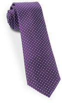 The Tie Bar Dot-Printed Silk Tie