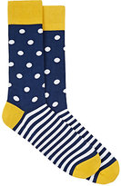 Corgi Men's Striped Polka Dot Mid-Calf Socks