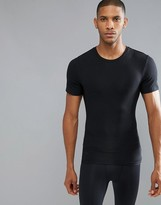 Spanx Cotton Compression T-Shirt Hard Core in Black