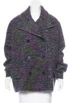 Jil Sander Mohair & Wool-Blend Double Breasted Coat