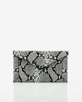 Le Château Snake Embossed Faux Leather Envelope Clutch