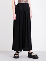 McQ by Alexander McQueen Pleated wide-leg crepe trousers