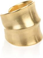Jacinda 14-karat gold-plated ring