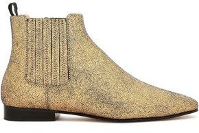Joseph Coated Metallic Suede Ankle Boots