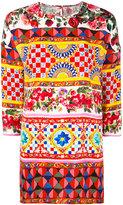 Dolce & Gabbana printed top - women - Silk/Spandex/Elastane - 38