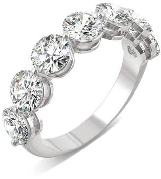 Charles & Colvard Moissanite Seven Stone Band 3-1/2 ct. t.w. Diamond Equivalent in 14k White Gold