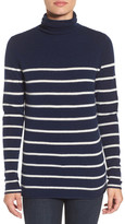 Halogen Wool & Cashmere Funnel Neck Sweater