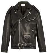 Raey Oversized tumbled-leather biker jacket