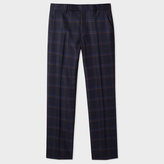 Paul Smith Men's Slim-Fit Navy Two-Tone Windowpane-Check Wool Trousers