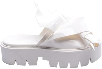 N°21 N21 White Patent leather Sandals