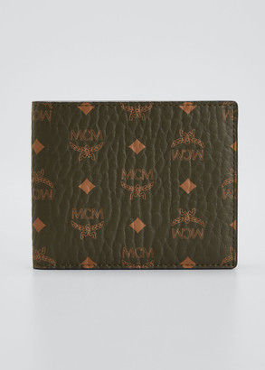 MCM Men's Monogram Bi-Fold Wallet