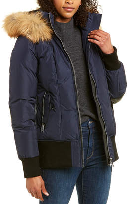 Nicole Benisti Nb Series By Series By Killy Leather-Trim Wool-Blend Down Coat
