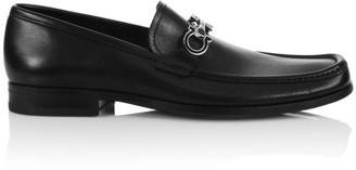Salvatore Ferragamo Chris Horse-Bit Leather Loafers