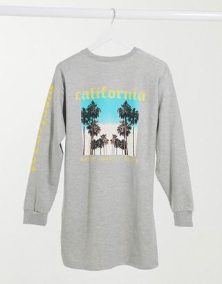 I SAW IT FIRST California oversized sweater dress in grey