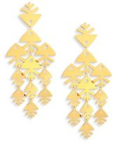 Tory Burch Metal Fish Chandelier Earrings