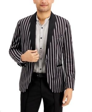 INC International Concepts Inc Men's Slim-Fit Striped Velvet Blazer, Created for Macy's