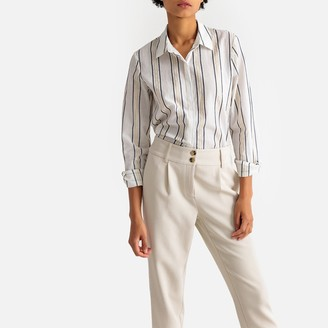 La Redoute Collections Metallic Striped Cotton Shirt