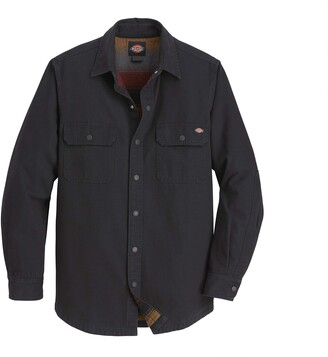 Dickies Men's Regular Fit Flannel Lined Duck Shirt