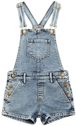 Finger In The Nose Stretch Cotton Denim Overalls