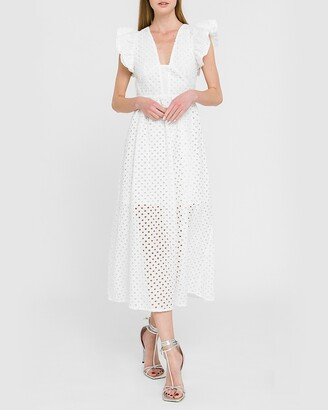 Express English Factory Cotton Embroidered Maxi Dress