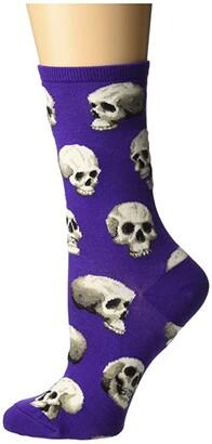 Socksmith Sacred Skulls (Purple) Women's Crew Cut Socks Shoes