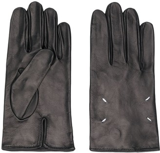 Maison Margiela Leather Four-Stitch Gloves