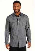 Ecko Unlimited Solid Poplin Military Shirt (Cigar Grey) - Apparel