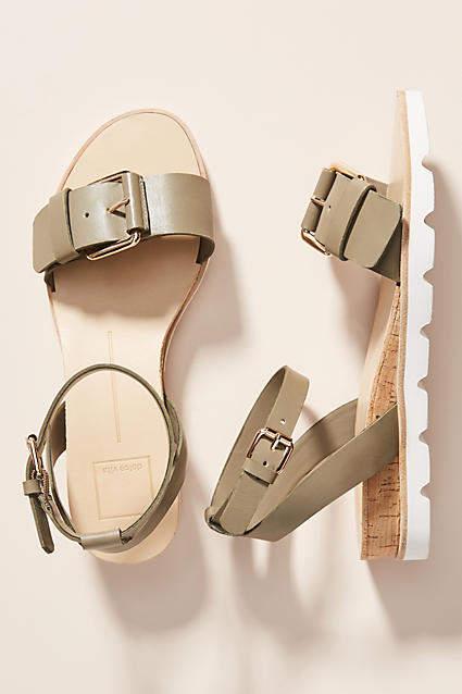 Dolce Vita Buckled Ankle Strap Sandals