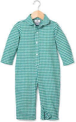 Petite Plume Gingham Flannel Coverall, Size 0-24 Months